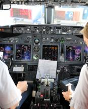 bigstock Pilots In The Cockpit During A 3923850